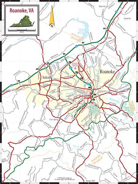 printable road map of virginia roanoke va map