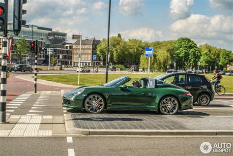 porsche targa green porsche 991 targa 4s 16 may 2015 autogespot