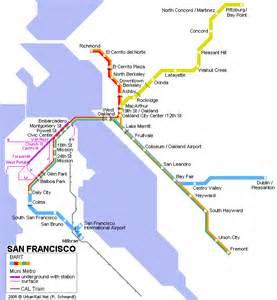San Francisco Subway Map by Carte De Metro San Francisco Subway Application