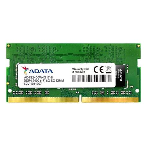 Ram Ddr4 Sodimm 8gb Team Elite adata 8gb ddr4 2400mhz so dimm notebook memory module