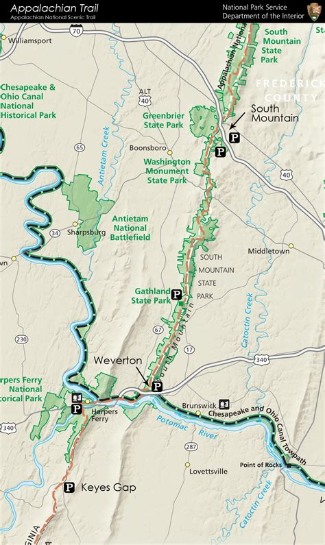 appalachian trail mileage map appalachian trail map with mileage www imgkid the