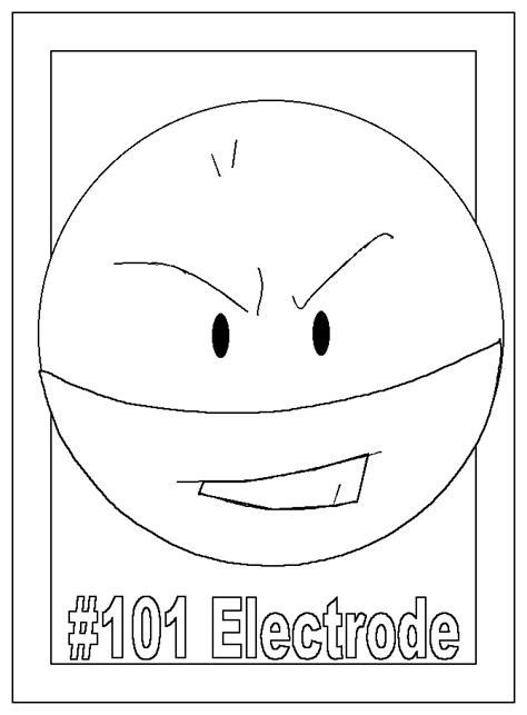 pokemon coloring pages voltorb cartoni animati i pokemon mostri e personaggi del