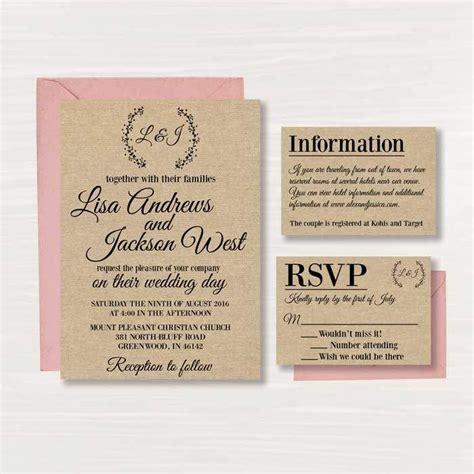 free rustic wedding invitation templates wedding free printable online wedding invitations templates