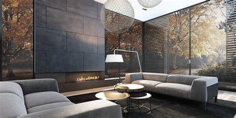 moderne feuerstelle modern fireplace interior design ideas