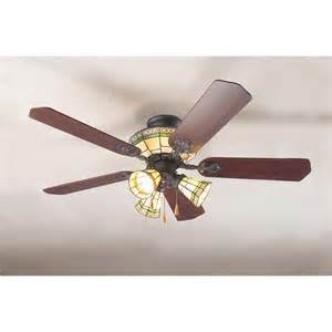 Glass Ceiling Fan Sonoma Style Stained Glass Ceiling Fan 93977