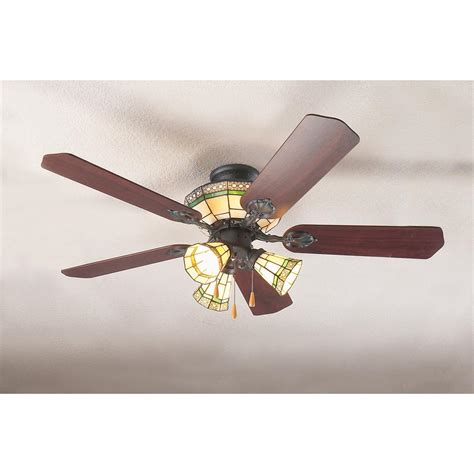 sonoma style stained glass ceiling fan 93977