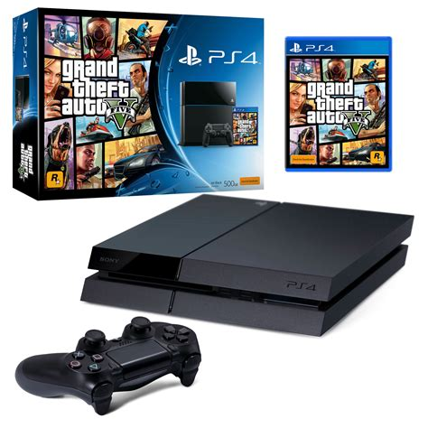 Ps4 Playstation 4 Grand Theft Auto V playstation 4 500gb console black grand theft auto v the gamesmen