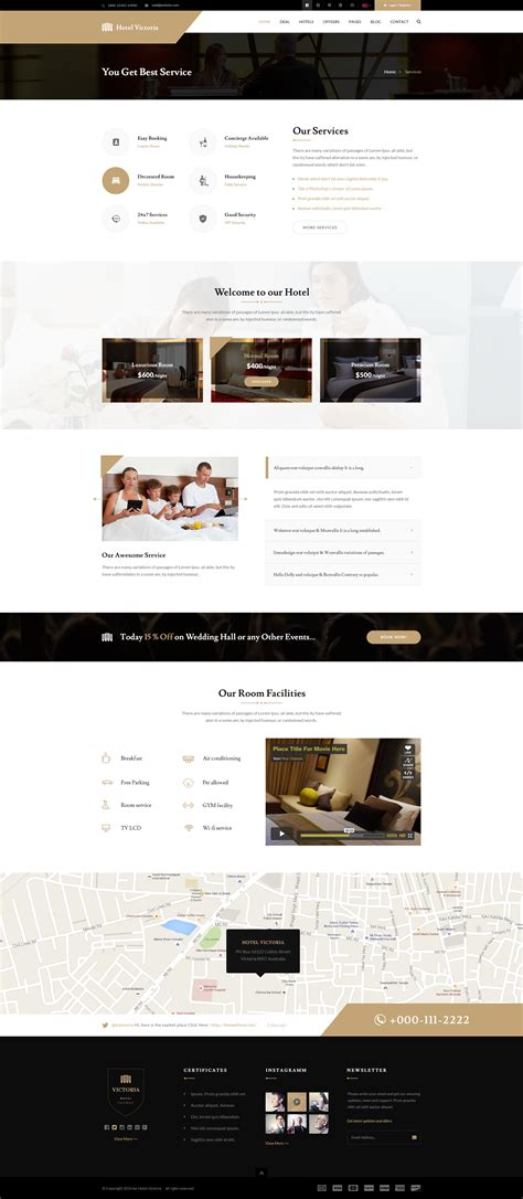 bootstrap templates for hotel reservation hotel victoria hotel resort bootstrap psd template by