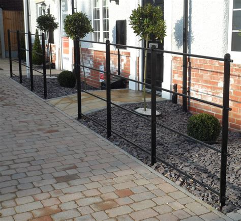 Metal Garden Fencing by Heavy Wrought Iron Metal Garden Fencing Steel Estate