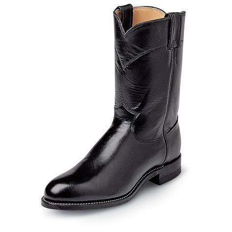 black justin boots s justin 174 10 quot kipskin boots black 104184 cowboy