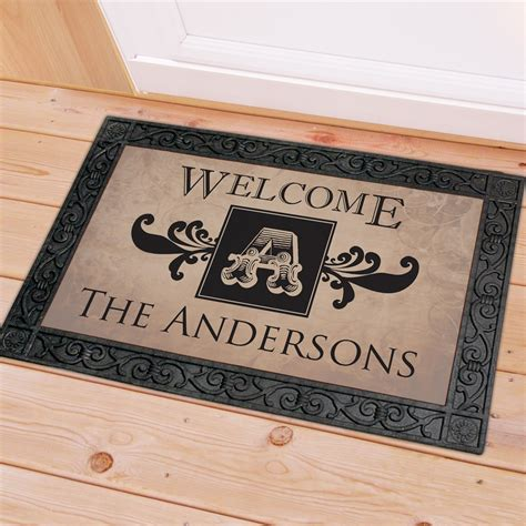 Doormats With Initials by Family Name And Monogram Doormat Giftsforyounow