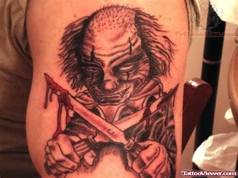 joker tattoo gun evil clown with gun gangster tattoo design tattoo viewer com
