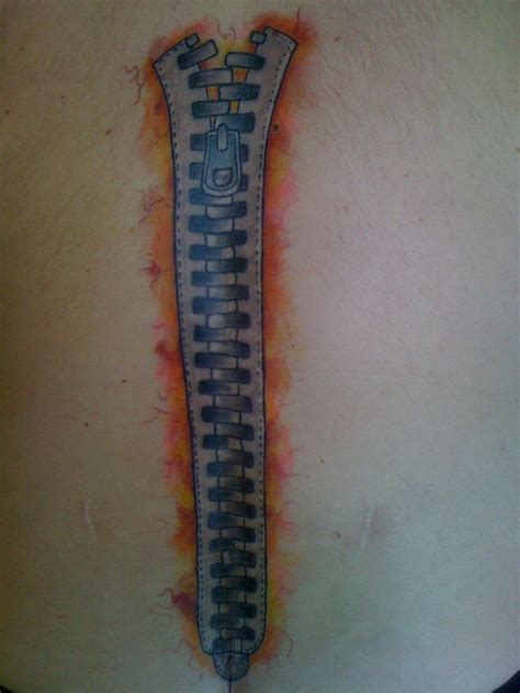zipper tattoo pictures scar zipper tattoo picture