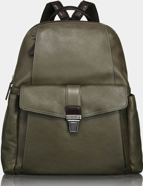 tumi beacon hill brimmer backpack in green for end of