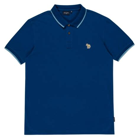 Polo Shirt Logo By Crion lyst paul smith s blue zebra logo polo shirt with contrast tipping in blue for