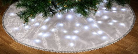 led lighted christmas holiday tree skirt custom made