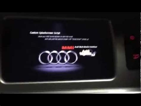 Audi Mmi Code by Audi Mmi 3g Custom Splashscreen Start Logo