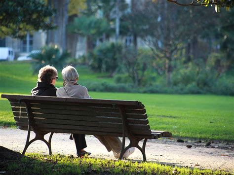 two people sitting on a bench diary of a hip replacement week 3 saga