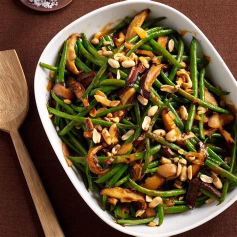 green bean casserole with red curry and peanuts recipe justin chapple food wine