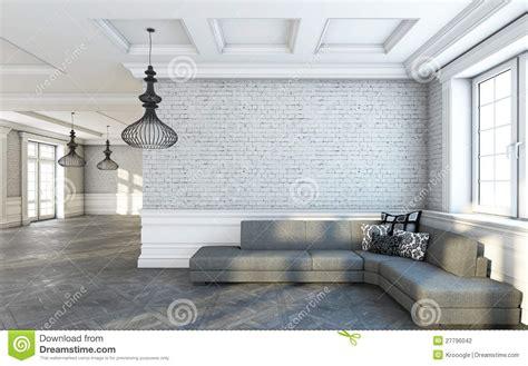 de bank de grijze woonkamer de bank stock illustratie