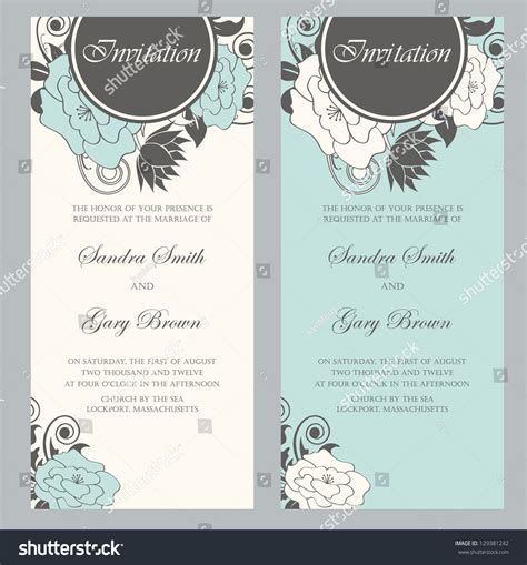 Wedding Invitation Letter Vector Beautiful Floral Wedding Invitations Vector Illustration Stock Vector 129381242