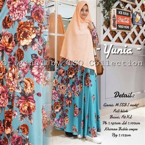 Baju Muslim Syari Motif Tutul gamis motif bunga yunia syari baju muslim modern