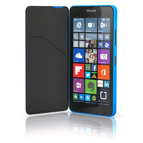cell phones smartphones nokia lumia 640 xl cyan blue nokia flip shell for lumia 640 xl with card holder cyan