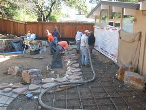 How To Pour A Concrete Patio by Dg Patios The Human Footprint