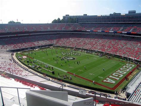 Sanford Section 8 by Sanford Stadium Section 301 Seat Views Seatscore