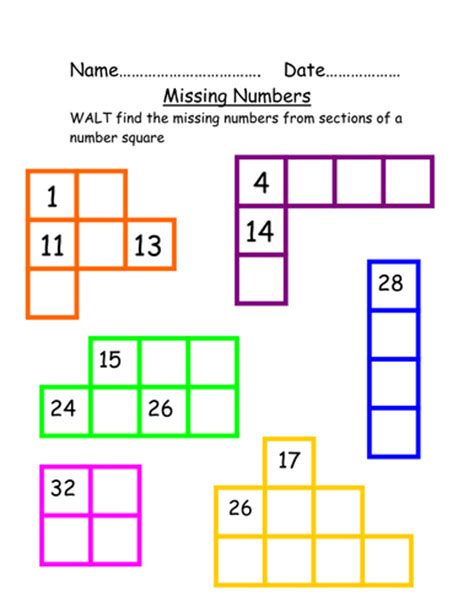 printable missing numbers 100 chart missing numbers from hundreds chart by beckyelmer1984