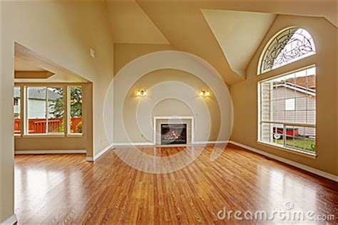 Up To The Ceiling To The Floor Song Lyrics by Empty Living Room With High Ceiling And Big Arch Window