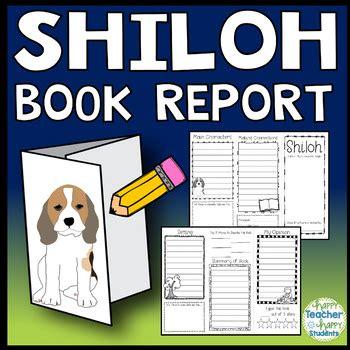 shiloh book report shiloh project create a brochure book report activity tpt
