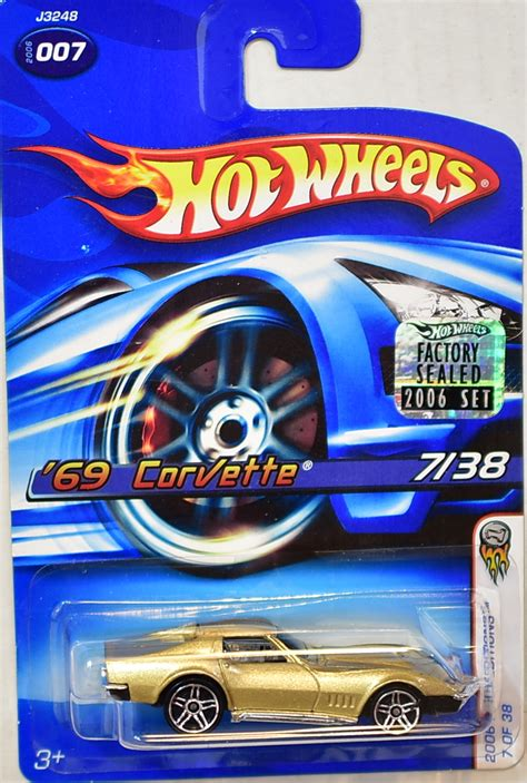 Wheels 69 Corvette Factory Sealed Us Card wheels 2006 editions 69 corvette 007 gold