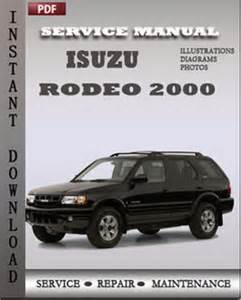 Isuzu Repair Manual Isuzu Rodeo 2000 Repair Manual Repair Service