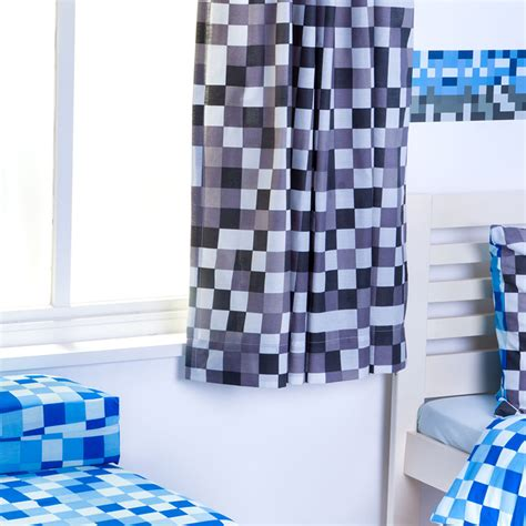 minecraft bedding and curtains pixels childrens nursery curtains kids tape top pencil