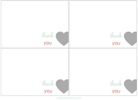 Printable Card Templates Free Thank You by Thank You Card Printable Template Free Search Results