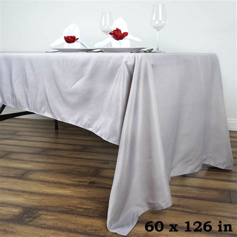 how to a tablecloth for a rectangular table 60 quot x 126 quot polyester rectangular tablecloth wedding