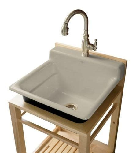 kohler bayview wood stand utility sink 15 best images about utility on front load