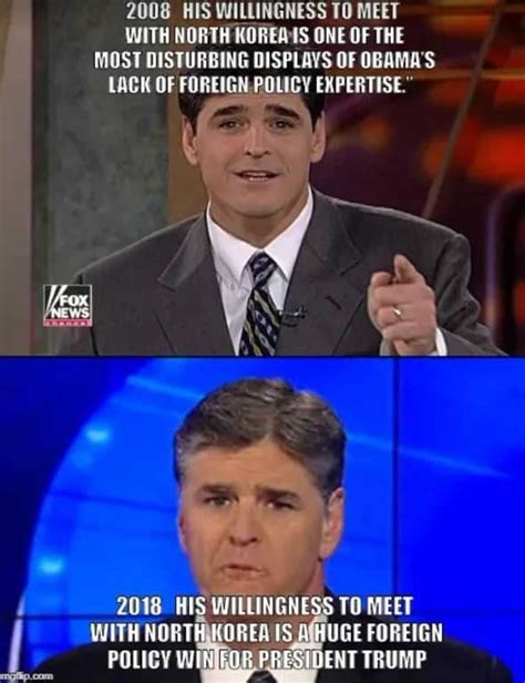 Sean Hannity Memes - hannity s double standard on north korea trump and obama politifact