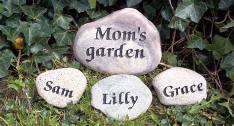 Rock Garden Engraving Custom Stone Engraving And Carved Custom Garden Rocks