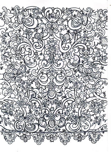 lace pattern sketch the gallery for gt lace drawing pattern