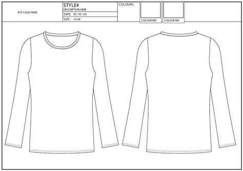 sleeve design template fit sleeve crew neck fashion services hk