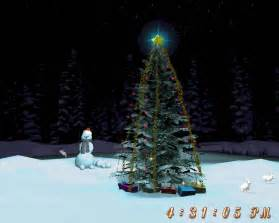 Download Christmas Tree Full Of Snowfall » Ideas Home Design