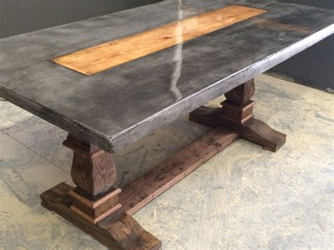 Coffee Tables Concrete And Wood Coffee Table Top Side