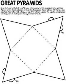 Pyramid Coloring Page pyramids of giza coloring page images