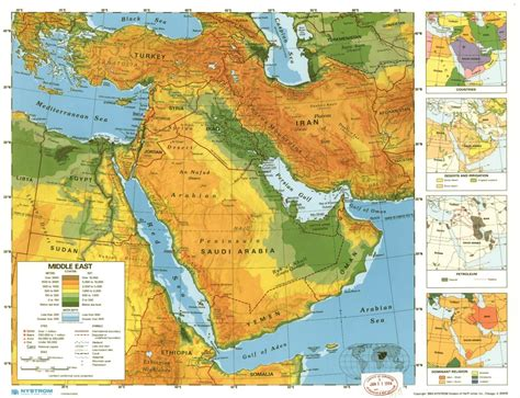 middle east map geographical what labels are on a physical map of the middle east