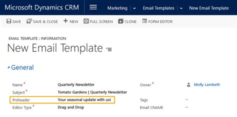 make an email template create an email template clickdimensions support