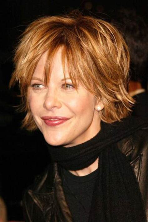 meg ryan hairstyles messy layered shag haircuts 30 fascinating hairstyle for old aged ladies