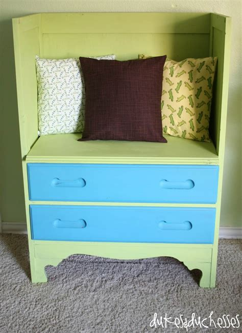 how to make a dresser into a bench a repurposed dresser dukes and duchesses