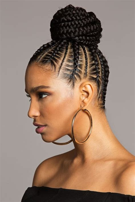 style  braided bun   braided bun style